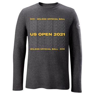 Wilson 2021 US Open Long Sleeve Mens Charcoal WRAX040