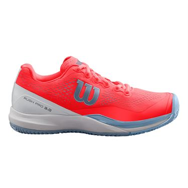Wilson Rush Pro 3.0 Womens Tennis Shoe - Fiery Coral/White/Cashmere Blue