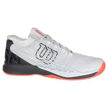 Wilson Kaos 2.0 SFT Mens Tennis Shoe - White/Ebony/Fiery Coral