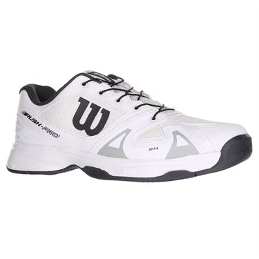 Wilson Rush Pro QL Junior Tennis Shoe - White/Ebony