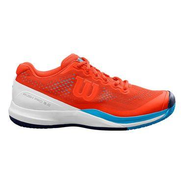 Wilson Rush Pro 3.0 Mens Tennis Shoe Tangerine Tango/White/Bonnie Blue WRS325970
