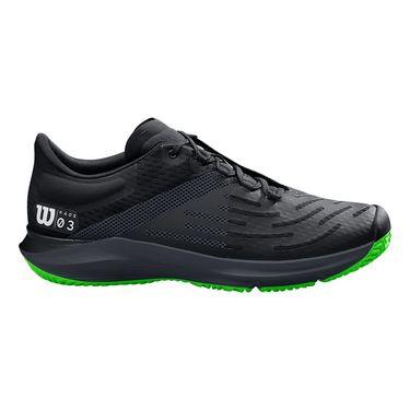 Wilson Kaos 3.0 Mens Tennis Shoe Black/Ebony/Blade Green WRS326110