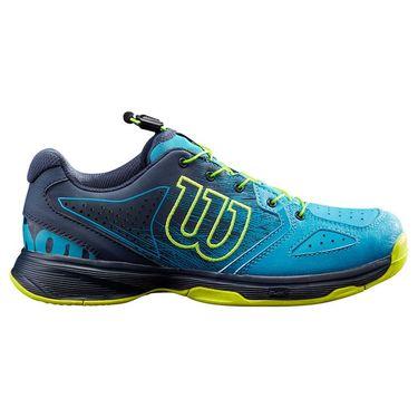 Wilson Kaos QL Junior Tennis Shoe Barrier Reef/Navy Blazer/Lime Popsicle WRS327910