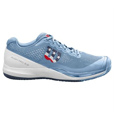 Wilson Rush Pro 3.0 Womens Pickleball Shoe Chambray Blue/White/Outer Space WRS328240
