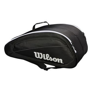 Wilson Federer Team 12 Pack Tennis Bag - Black/White