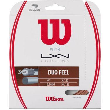 Wilson Duo Feel Hybrid Tennis String - Wilson NXT Control 16/Luxilon 4G Rough 125