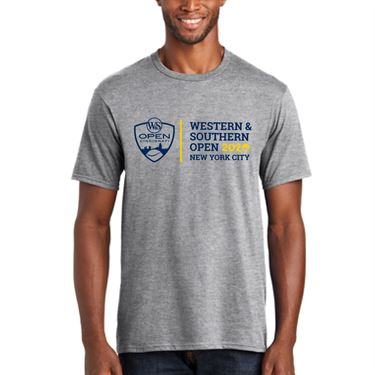 Western & Southern Open 2020 Circle Tee Grey Heather WST20 07