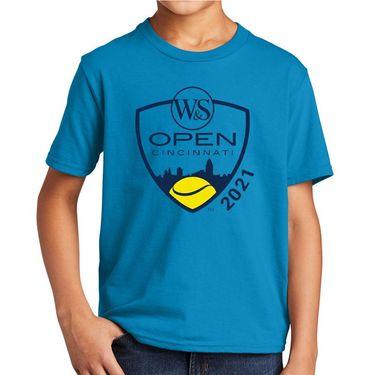 W&S Open Youth Tee Blue WSTK21 02