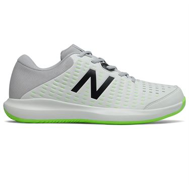 New Balance MCH696E4 Mens Tennis Shoe D Width White/Grey/Lime MCH696E4 D