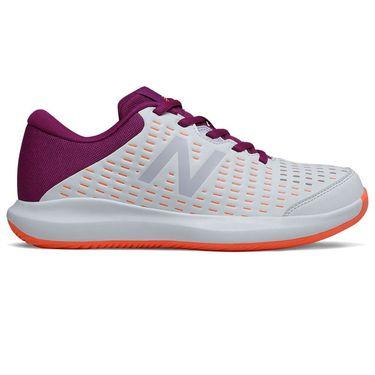 New Balance 696v4 (B) Womens Tennis Shoe - White/Mulberry
