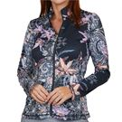 Sofibella UV Feather 1/2 Zip Long Sleeve Top Womens Orchid 9004F ORC