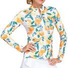 Tail Fun in the Sun Happy Long Sleeve 3/4 Zip Top Womens Orange Crush TS2810 L670