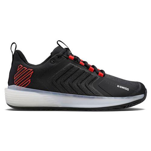 K Swiss Ultrashot 3 Mens Tennis Shoe Black/white/Poppy Red 06988 043