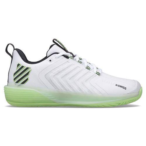 K Swiss Ultrashot 3 Mens Tennis Shoe White/Green/Blue 06988 191