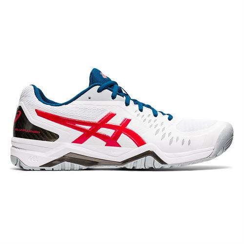 Asics Gel Challenger 12 Mens Tennis Shoe White/Classic Red 1041A045 117