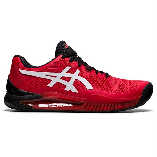 Asics Gel Resolution 8 Mens Tennis Shoe Electric Red/White 1041A079 601