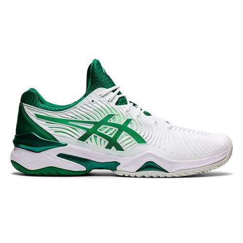 Asics Court FF Novak Mens Tennis Shoe White/Kale 1041A089 104