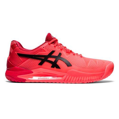 Asics Gel Resolution 8 Mens Tennis Shoe Tokyo Sunrise Red/Eclipse Black 1041A185 701