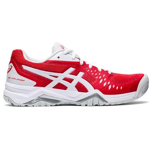 Asics Gel Challenger 12 Womens Tennis Shoe Fiery Red/White 1042A041 600