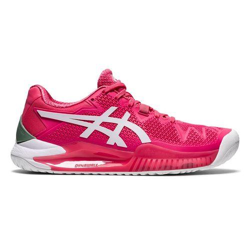 Asics Gel Resolution 8 Womens Tennis Shoe Pink Cameo/White 1042A072 702