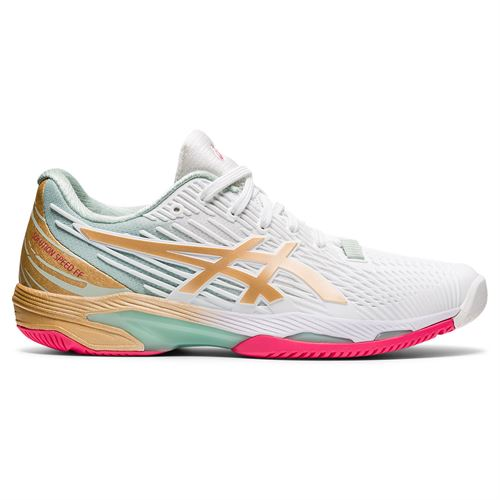 Asics Solution Speed FF2 LE Womens Tennis Shoe White/Champagne 1042A142 100