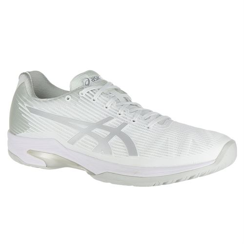 Asics Solution Speed FF Womens Tennis Shoe - White/Silver