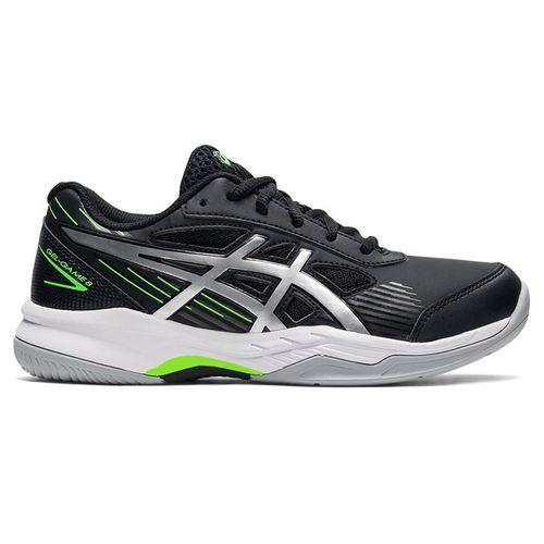 Asics Junior Gel Game 8 GS Tennis Shoe Black/Pure Silver 1044A025 004