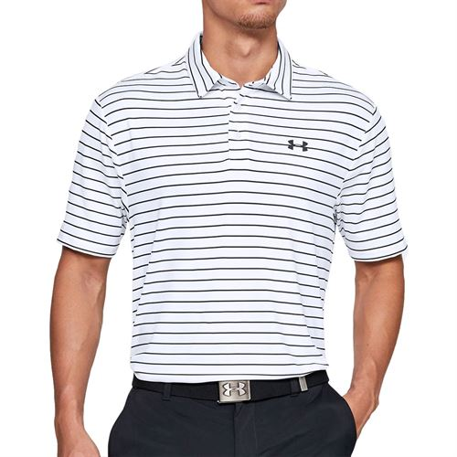 Under Armour Playoff 2.0 Polo Shirt Mens White/Black 1327037 124
