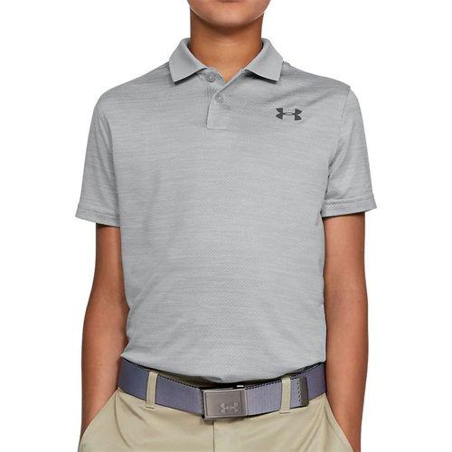Under Armour Boys Performance Polo Shirt Mod Gray Light Heather 1342083 011