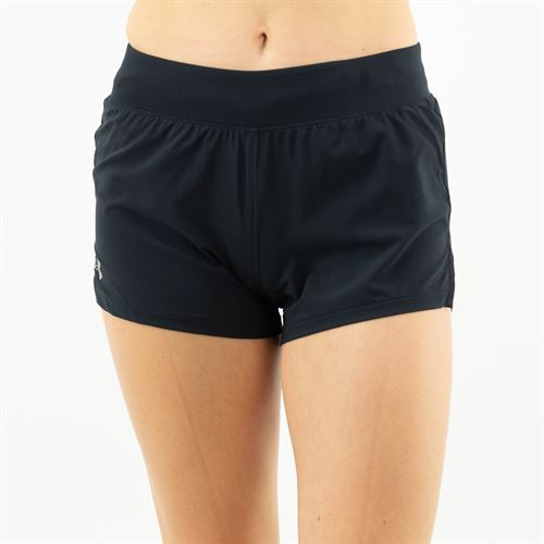 Under Armour Launch SW 3 inch Short Womens Black/Reflective 1342837 001