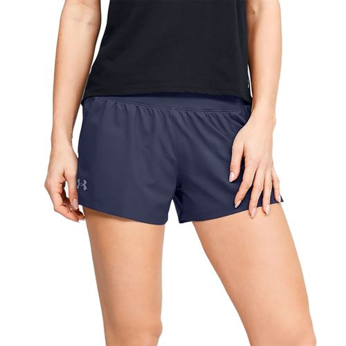 Under Armour Launch SW 3 inch Short Womens Blue Ink/Reflective 1342837 497