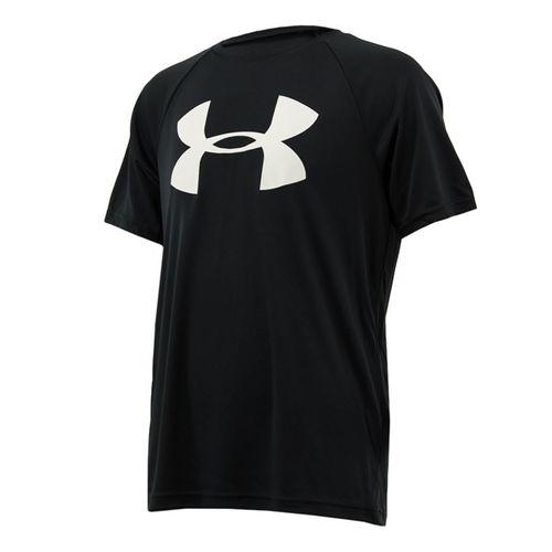 Under Armour Boys Tech Big Logo Shirt - Black/White