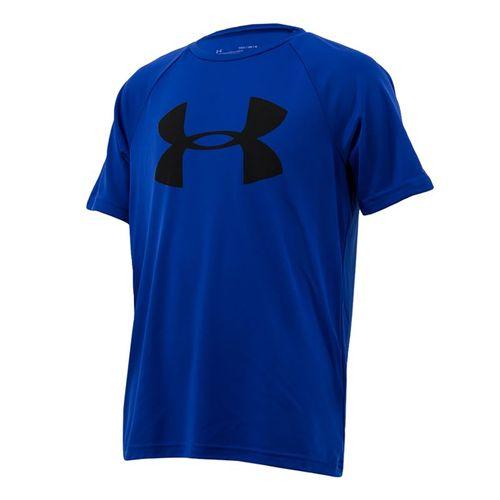 Under Armour Boys Tech Big Logo Shirt - Royal/Black