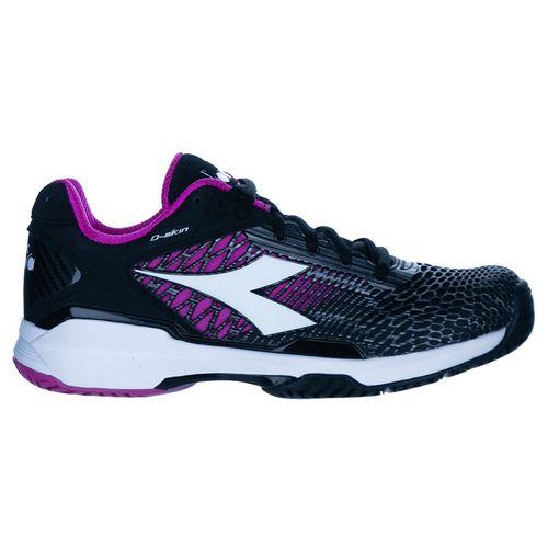 Diadora Speed Competition 5 Womens Tennis Shoe Black/White/Purple 175574 C8897û