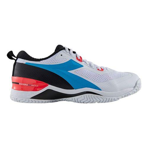 Diadora Speed Blushield 4 Mens Tennis Shoe White/Blue 175582 C6087