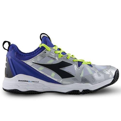 Diadora Speed Blushield Fly 2 Clay Mens Tennis Shoe Blue/Black/White 175585 C3512