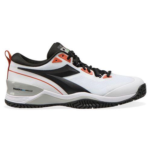 Diadora Speed Blushield 5 AG Mens Tennis Shoe White/Black/Mecca Orange 176940 C9105