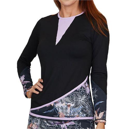 Sofibella Calypso Long Sleeve Top Womens Black 1964 ORC