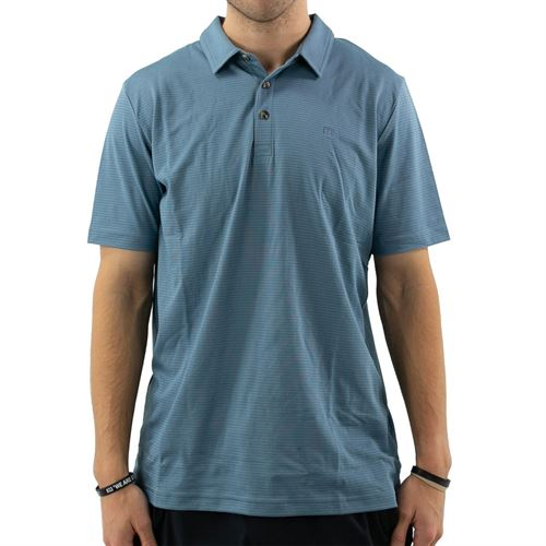 Travis Mathew One For The Road Polo Mens Heather Aegean 1MT388 4HAN