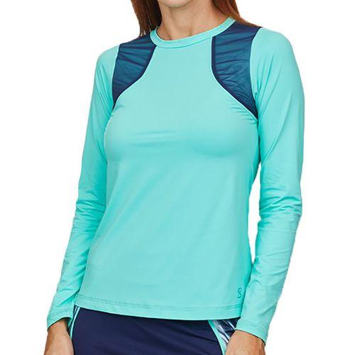 Sofibella Speed Lines Long Sleeve Top Womens Mint 2042 MNT