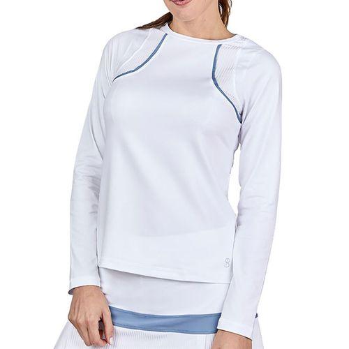Sofibella Alignment Long Sleeve Top Plus Size Womens White 2042 WHTP
