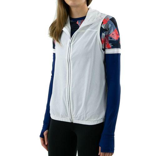 Lija Pindot Sonic Vest Womens White/Ice Berry/Plum 20S 6520T1
