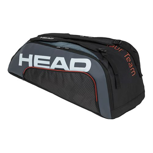 Head Tour Team 9 Racquet Supercombi Tennis Bag - Black/Grey