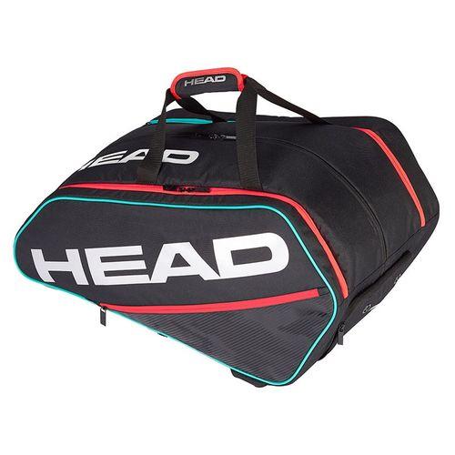 Head Tour Supercombi Pickleball Bag - Black/Teal/Crimson