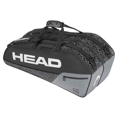 Head Core Combi 6 Pack Tennis Bag - Black/Grey