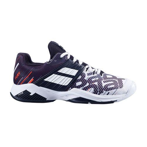 Babolat Propulse Fury All Court Mens Tennis Shoe White/Black 30S20208 1001