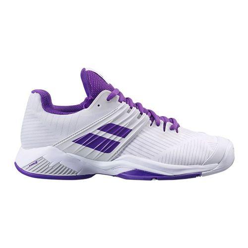 Babolat Propulse Fury All Court Womens Tennis Shoe White Purple 31F21477 1046
