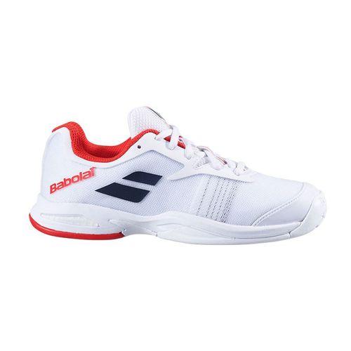 Babolat Junior Jet All Court Tennis Shoe White/White 32S20648 1000