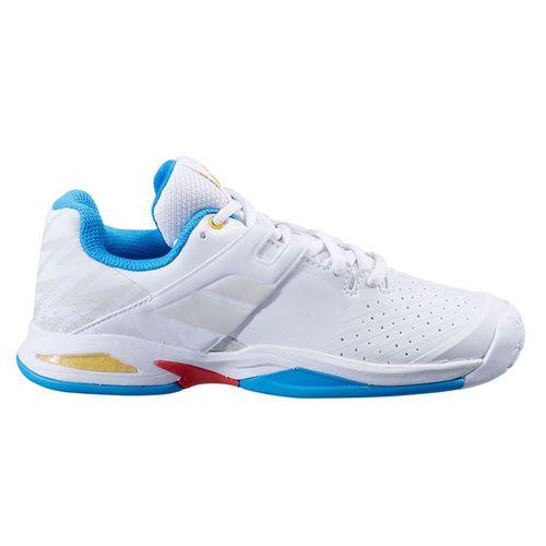 Babolat Propulse All Court Junior Tennis Shoe White/Diva Blue 32S21478 1010