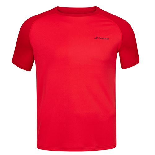 Babolat Play Crew Shirt Mens Tomato Red 3MP1011 5027S